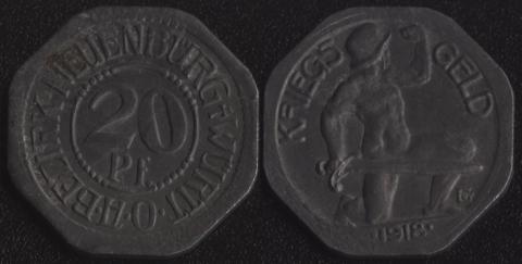 Нойенбург 20 пфеннигов 1918
