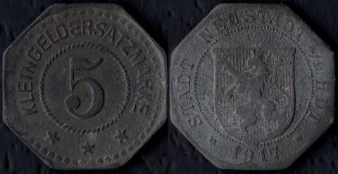 Нойштадт-ан-де-Хаардт 5 пфеннигов 1917