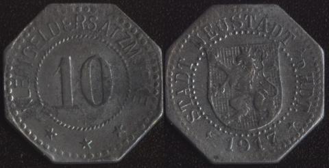 Нойштадт 10 пфеннигов 1917