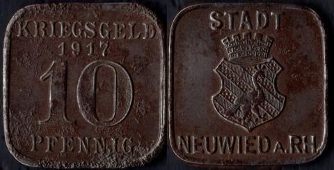 Нойвид 10 пфеннигов 1917