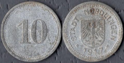 Нёрдлинген 10 пфеннигов 1917