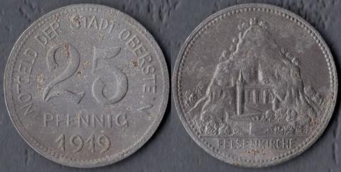 Обершатйн 25 пфеннигов 1919