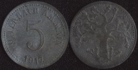 Оффенбах 5 пфеннигов 1917