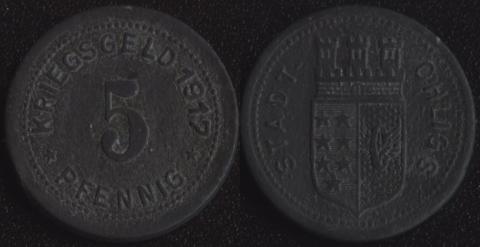 Олигс 5 пфеннигов 1917