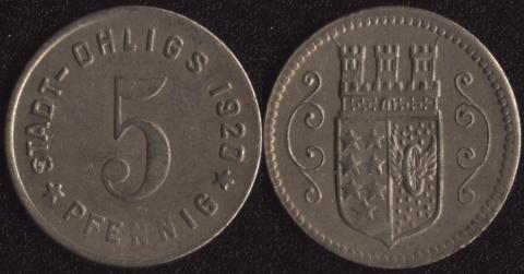 Олигс 5 пфеннигов 1920
