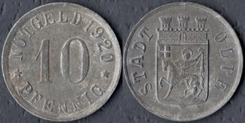 Ольпе 10 пфеннигов 1920