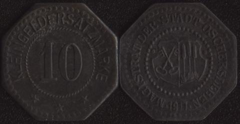 Ошерслебен 10 пфеннигов 1917