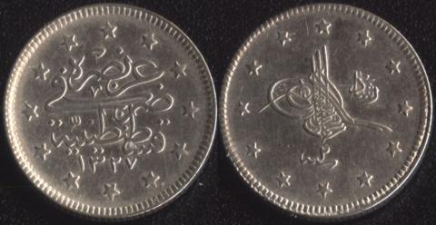 Османская Империя 2 куруша 1910