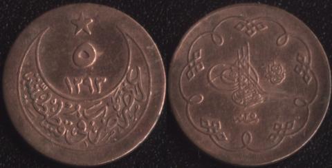 Османская Империя 5 пара 1899