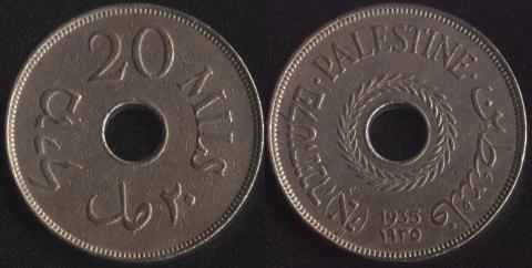 Палестина 20 милс 1935