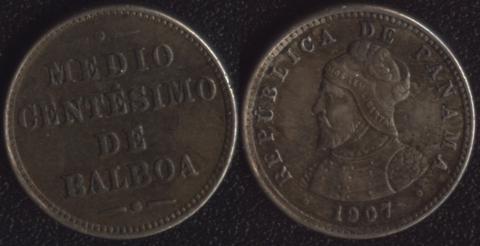 Панама 1/2 сентесимо 1907