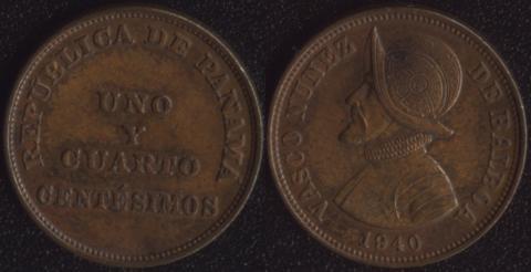 Панама 1-1/4 сентесимо 1940