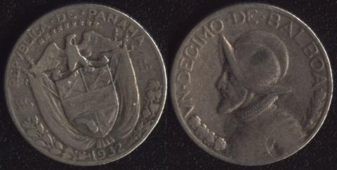 Панама 1/10 бальбоа 1932