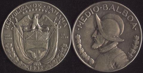 Панама 1/2 бальбоа 1932