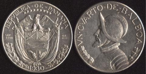 Панама 1/4 бальбоа 1930