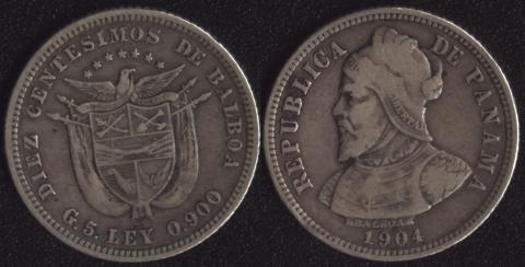Панама 10 сентесимо 1904