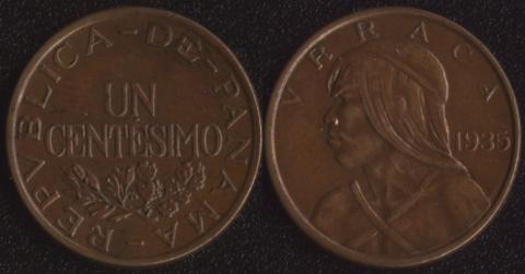 Панама 1 сентесимо 1935