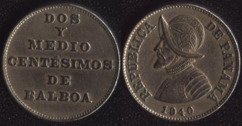 Панама 2-1/2 сентесимо 1940