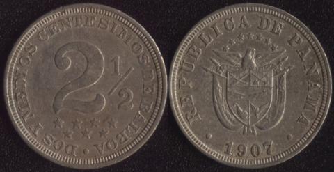 Панама 2.5 сентесимо 1907