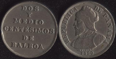 Панама 2-1/2 сентесимо 1929