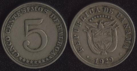 Панама 5 сентесимо 1929