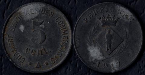 Перпиньян 5 сантим 1917