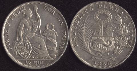 Перу 1/2 соля 1935