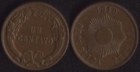 Перу 1 сентаво 1919