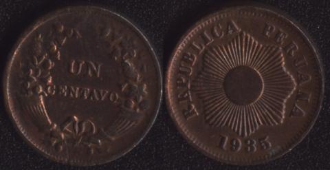 Перу 1 сентаво 1935