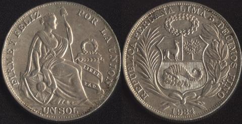 Перу 1 соль 1934