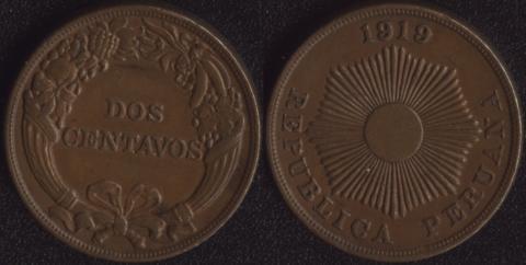 Перу 2 сентаво 1919