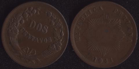 Перу 2 сентаво 1941