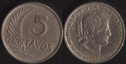 Перу 5 сентаво 1941