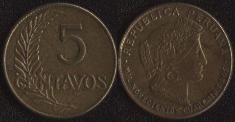 Перу 5 сентаво 1942