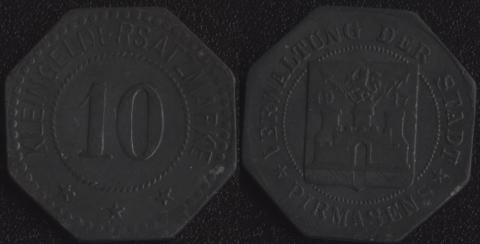 Пирмазенс 10 пфеннигов 1917