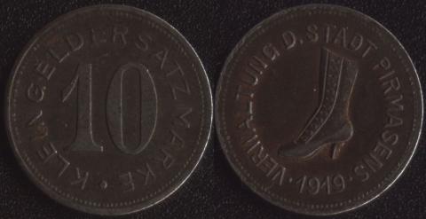 Пирмазенс 10 пфеннигов 1919