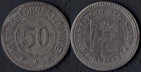 Пирмазенс 50 пфеннигов 1918