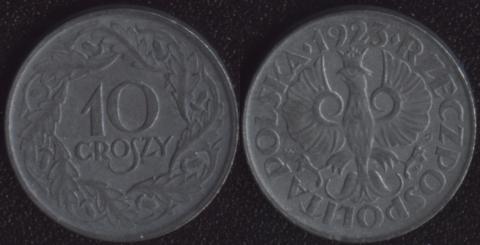 Польша 10 грошей 1923