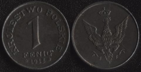 Польша 1 фенниг 1918