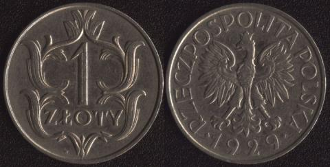 Польша 1 злотый 1929