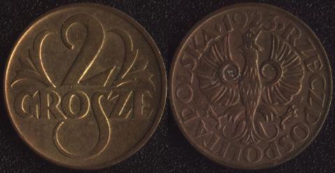Польша 2 гроша 1923