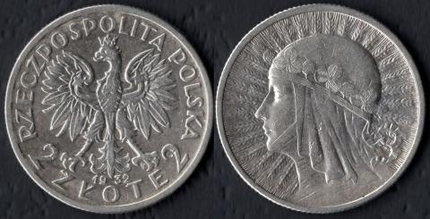 Польша 2 злотых 1932 Ядвига