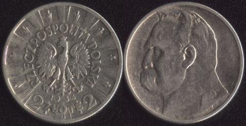 Польша 2 злотых 1934 Пилсудский