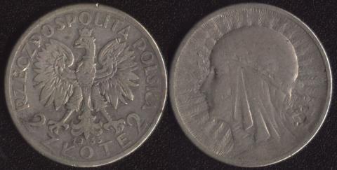 Польша 2 злотых 1935 Ядвига