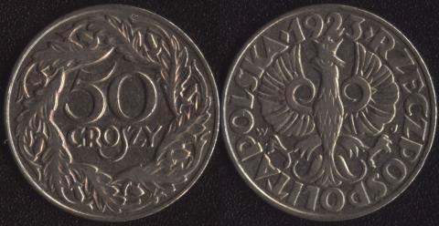 Польша 50 грошей 1923