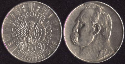 Польша 5 злотых 1934 Легионер