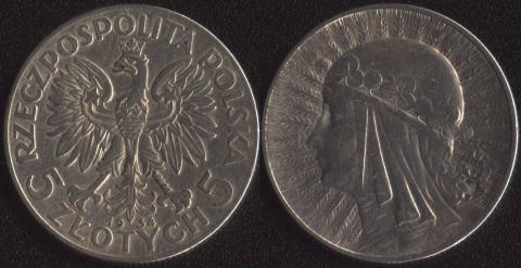 Польша 5 злотых 1934 Ядвига