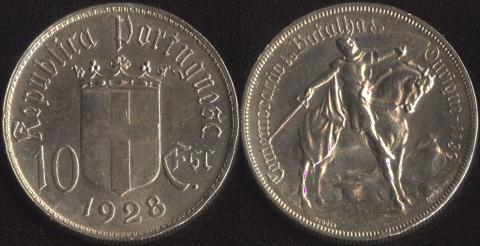 Португалия 10 эскудо 1928