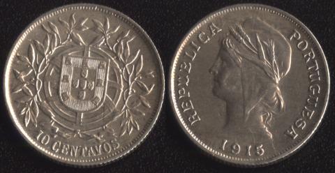 Португалия 10 сентаво 1921