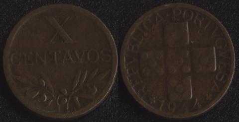 Португалия 10 сентаво 1944